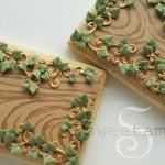 wood grain icing