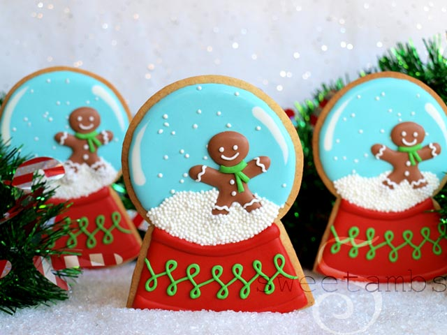 how to decorate snow globe cookiessweetambs
