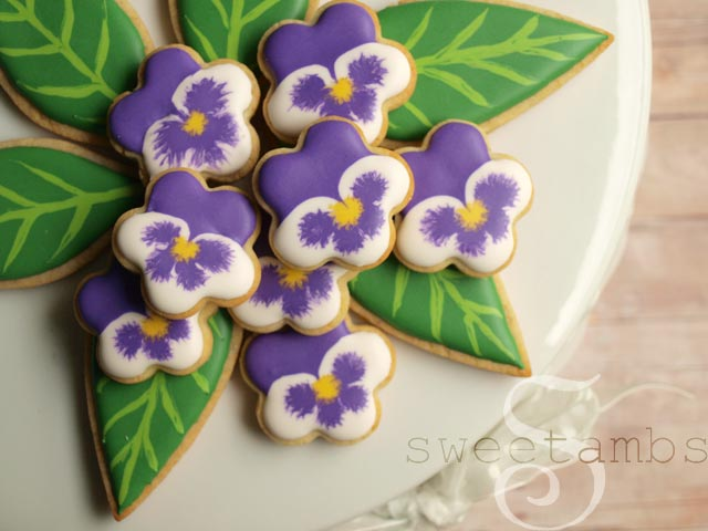Pansy-Cookies