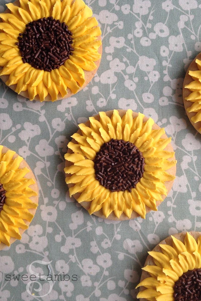 How To Make Sunflower Cookiessweetambs