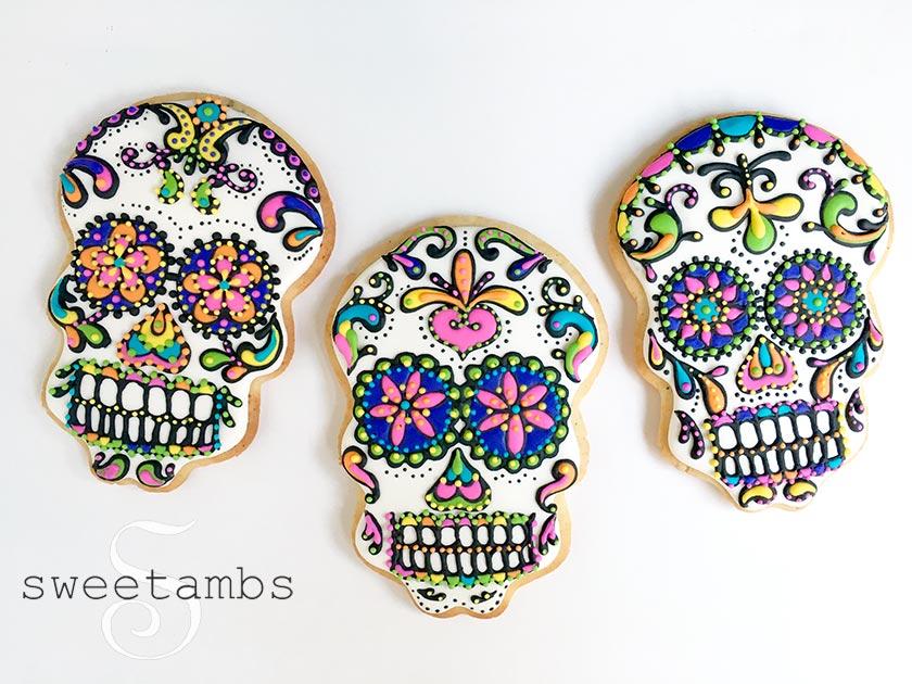 Sugar Skull Cookies Sweetambssweetambs