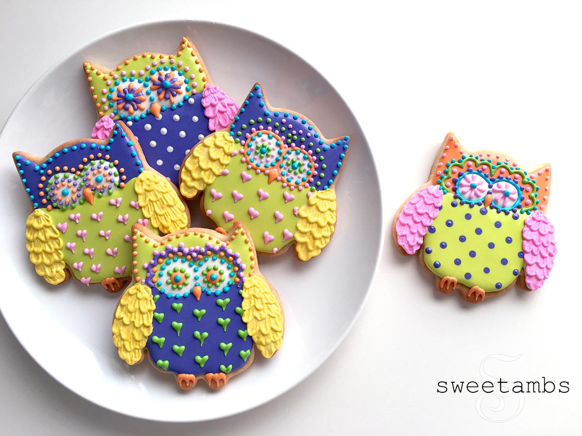 Owl Decorated Cookies How To Decorate Owl Cookiessweetambs