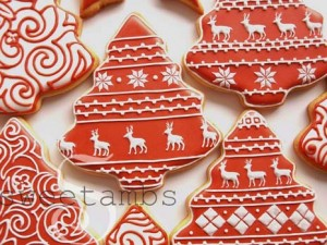 Red And White Christmas Cookiessweetambs