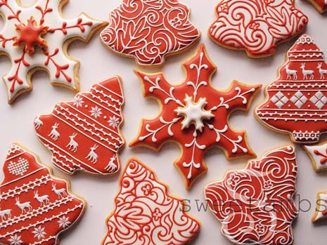 Red And White Christmas Cookiessweetambs