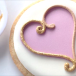 Lesson 15: Pink and Gold Heart Valentine's Day Cookie – Video