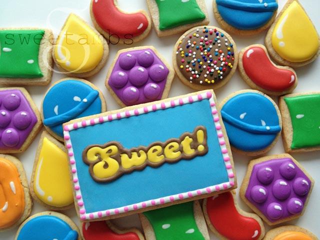 Candy Crush Cookies by SweetAmbsSweetAmbs