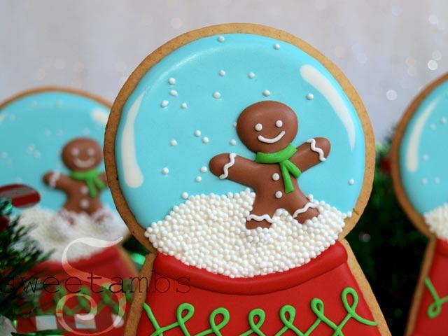 How To Decorate Snow Globe Cookiessweetambs