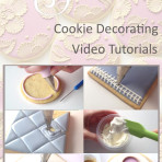 Cookie Decorating Video Tutorial Bundle: Lessons 1 through 15 With Recipes