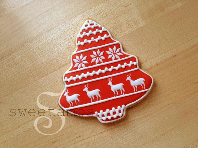 Red And White Reindeer Christmas Cookiessweetambs
