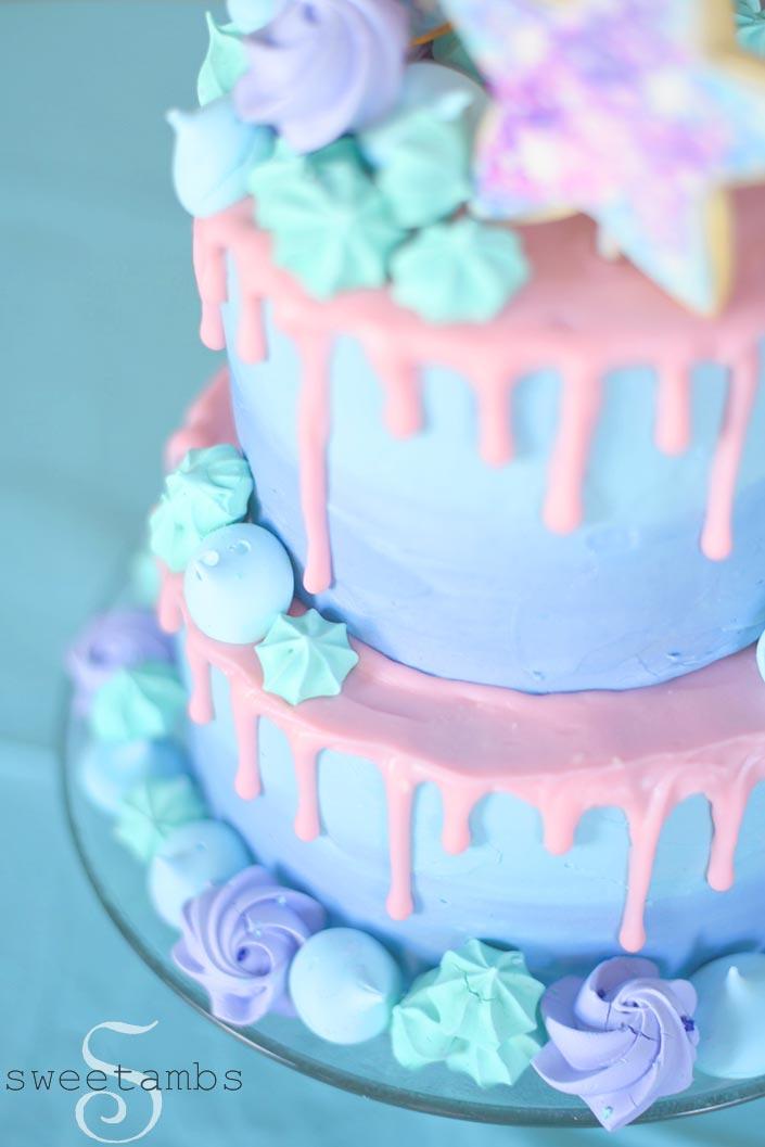 Galaxy Cake Olive S First Birthday Sweetambssweetambs