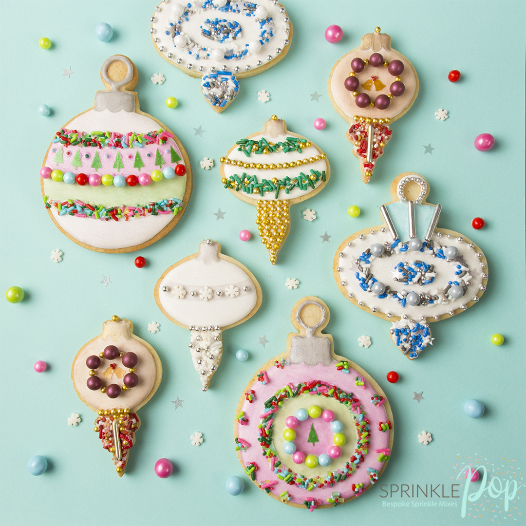 Vintage Ornament Cookies With Sprinkle Pop S Holiday Collection