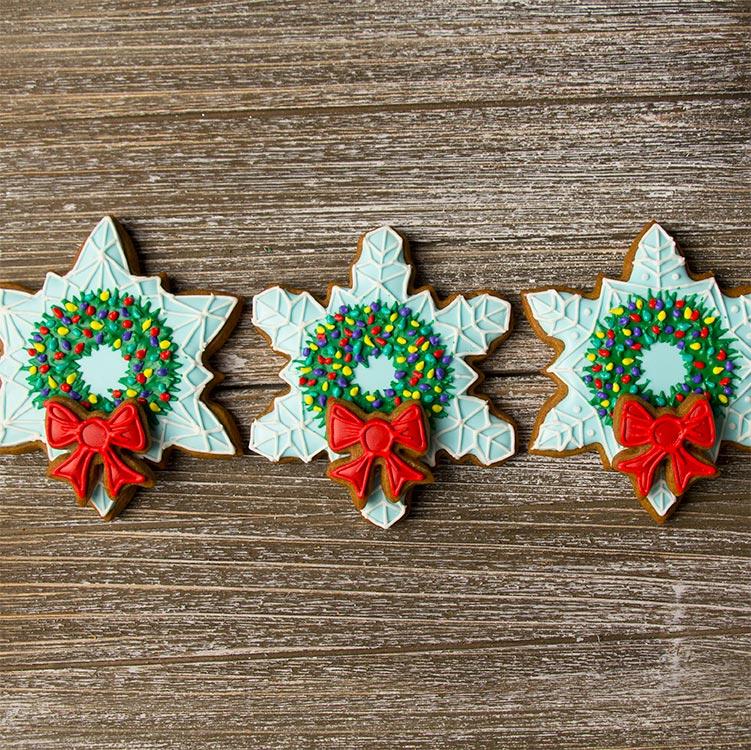 Snowflake Wreath Cookies Sweetambssweetambs