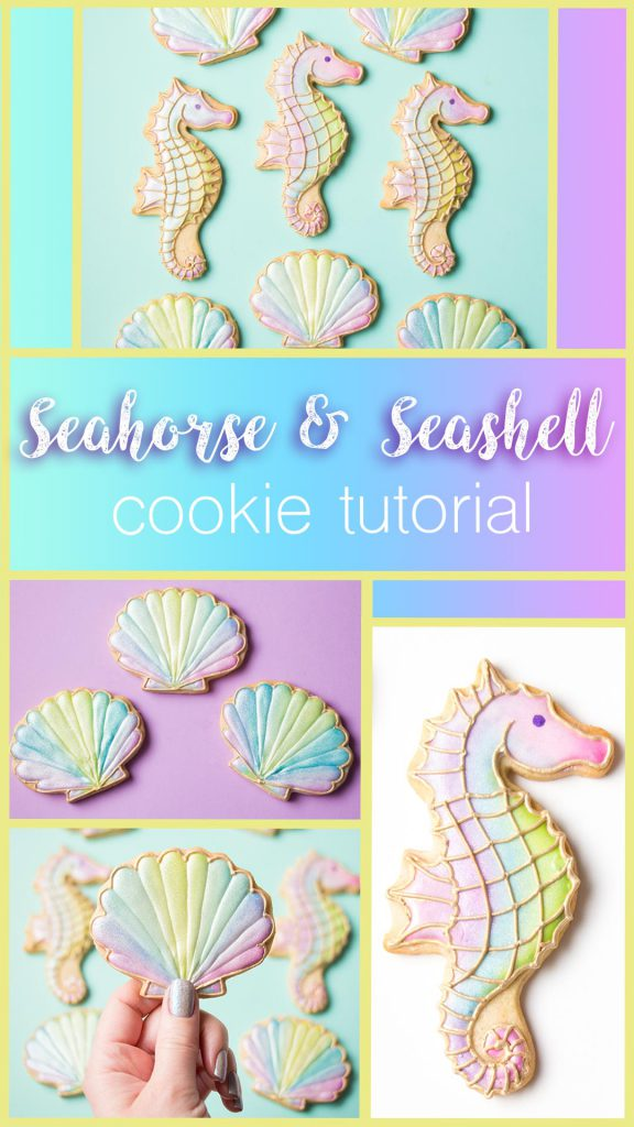 Seahorse Seashell Cookies Sweetambssweetambs