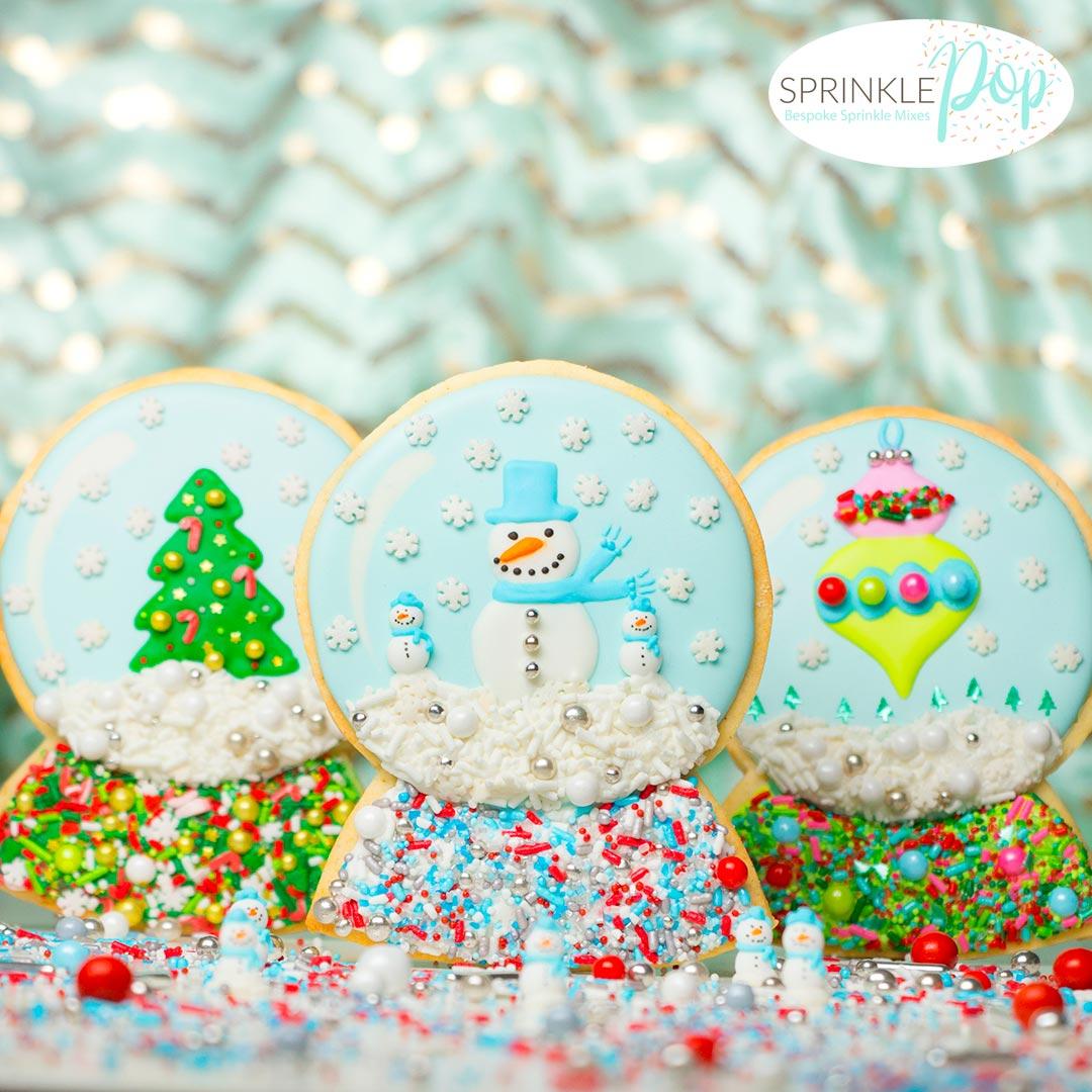 Snow Globe Cookies With Sprinkle Pop Sprinkle Mixes