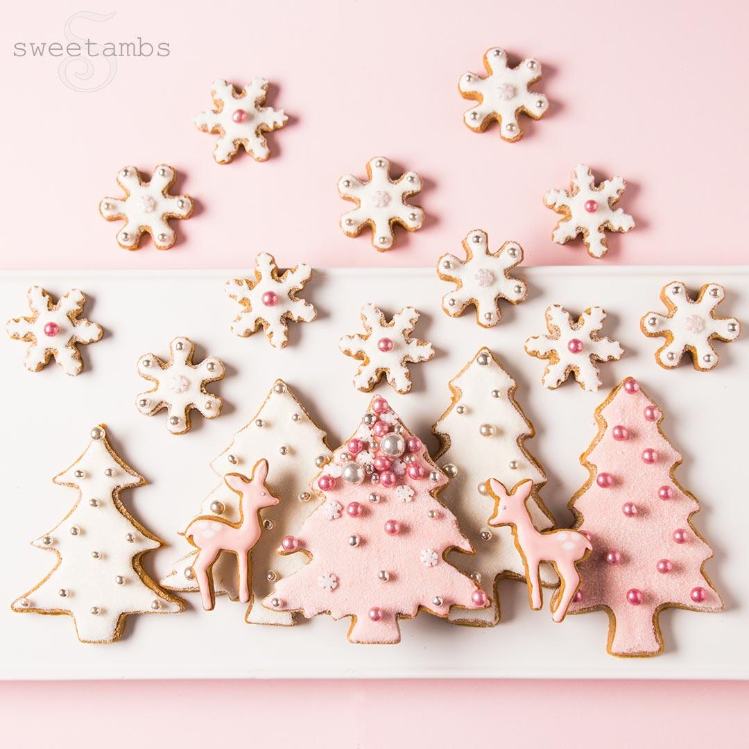 Pink Winter Wonderland Cookies Collab With Haniela S Sweetambssweetambs