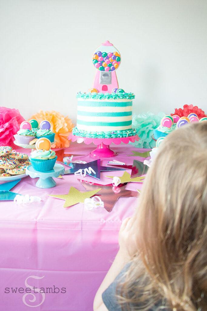Prime Gumball Machine Cake Olives 3Rd Birthday Sweetambssweetambs Funny Birthday Cards Online Overcheapnameinfo