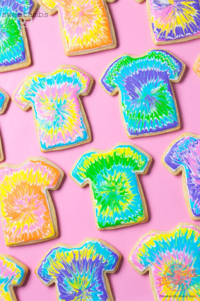 Tie Dye T Shirt Cookies Cookie Baking And Decorating Kit Sweetambssweetambs